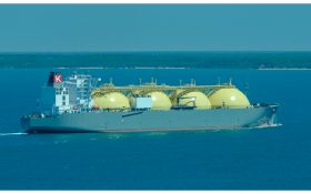 LNG Ship on course for Japan